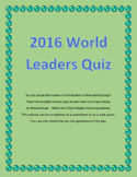World Leaders Quiz for 2016 - Do You Know the Leaders of t