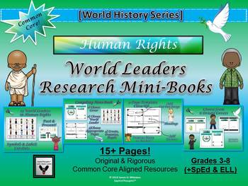 World Leaders in Human Rights Research Mini-Book Activity