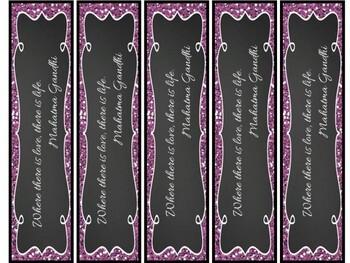World Lit Bookmark Valentines