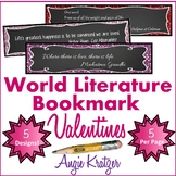 World Lit Bookmark Valentines