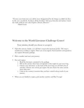 World Literature Challenge Center