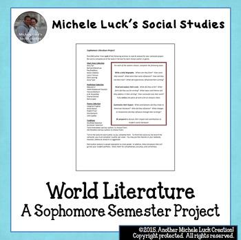 World Literature Semester Individual Project - Sophomore English