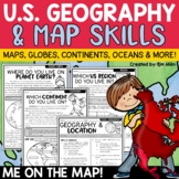 Map Skills Worksheets | Geography, Continents, Oceans, Hemispheres, Location