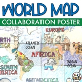 World Map - Geography Collaboration Poster