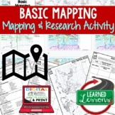 World Map Activity, Mapping Continents and Oceans PRINT & DIGITAL