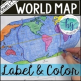 World Map Activity (Print and Digital)
