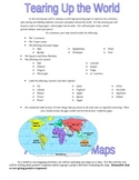 "World Map Activity--- ""Tearing up the World!"""