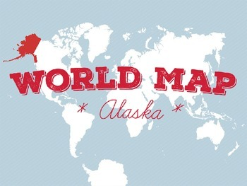 World Map - Alaska