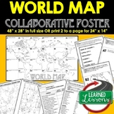 World Map Collaborative Poster, World Mapping Activity, Wo