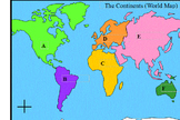World Map Continents (Life Skills) Pull-out or In-class support simple map