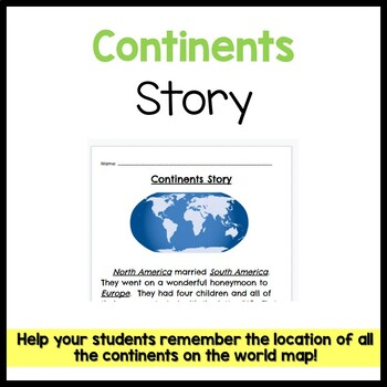 World Map Continents Story