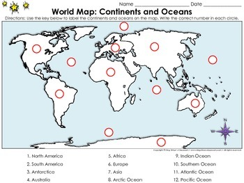 World Map: Continents and Oceans - Locate Places on a Map
