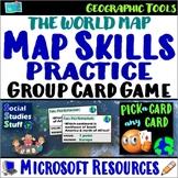 Fan and Pick Card Game : World Map Skills - A Kagan Strategy