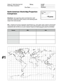 World Map Proportion Comparison Research Sheet
