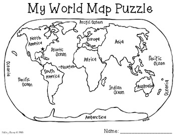 World map puzzle freebie by just reed teachers pay teachers world map puzzle freebie gumiabroncs Image collections