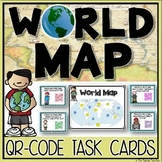 World Map QR Code Task Cards Activity