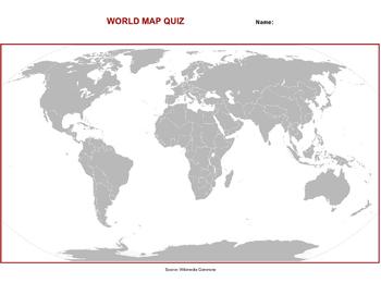 World map quiz by kurt johnson teachers pay teachers world map quiz gumiabroncs Choice Image