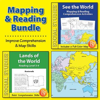 World Map & Reading Comprehension {Bundle}