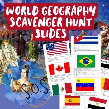 World Map Scavenger Hunt Slides