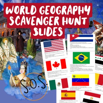 World Map Scavenger Hunt Slides