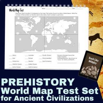 World Map Test Set for Ancient Civilizations