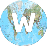 World Map Welcome Sign
