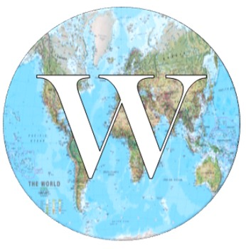 World Map Welcome Sign Font Change