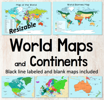 World Map and Continents Maps - World Biomes Map - USA Map ...