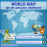 World Map - for the interactive SmartBoard and Whiteboard