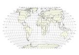 World Map - latitude and longitude grid