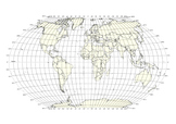 World Map - latitude and longitude grid