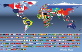 World Map with 165 Countries