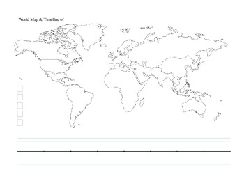 World Map with Timeline