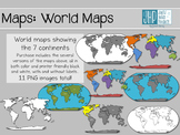 World Maps (clipart)