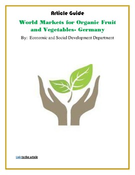 (ECONOMICS) World Markets for Organic Fruit and Vegetables- Germany