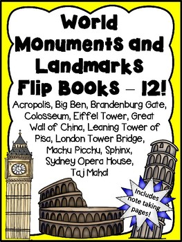 World Monuments and Landmarks Flip Books - Money Saving Bundle