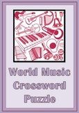 Music Games: Musical Instruments: World Music Crossword Puzzle