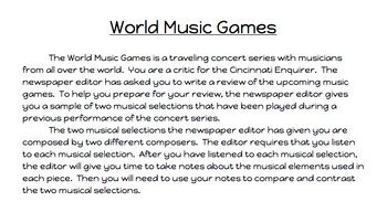 World Music Games Assessment