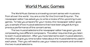 World Music Games Assessment