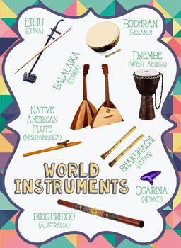 World Music Instrument Poster