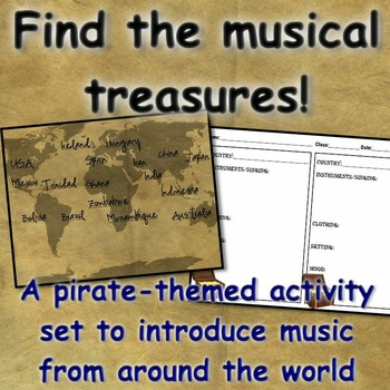 World Music Introduction: Pirates Find the Treasures!