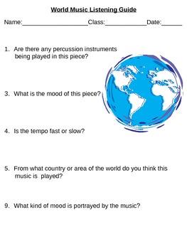 World Music Listening Guide (Multi-cultural music listening)