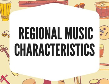 World Music Regions Posters