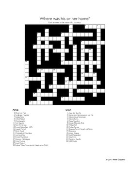 World News Crossword for the week ending October 4th, 2015