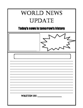 """World News"" Newspaper Template"