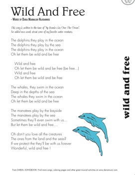 World Oceans Day Song - Wild And Free