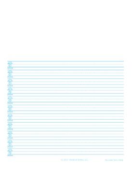 World Of Smiles Handwriting - Advanced Journal Paper Portrait (narrow ruled)