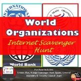 World Organizations Scavenger Hunt Activity | Print and Digital | Modern World