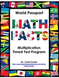 Multiplication Timed Test World Passport Program (Common Core)