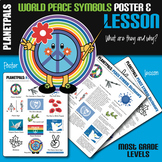 World Peace Symbol & Signs History Lesson & Poster Bundle Peace Day Everyday